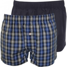 2-Pack Woven Boxer Shorts, Blue/Navy