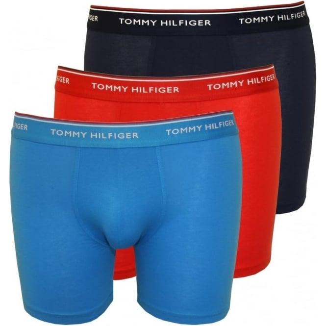 tommy hilfiger 3 pack premium boxer briefs red blue navy. Black Bedroom Furniture Sets. Home Design Ideas