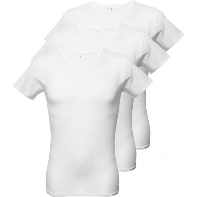 Tommy Hilfiger 3-Pack Premium V-neck T-Shirts, White