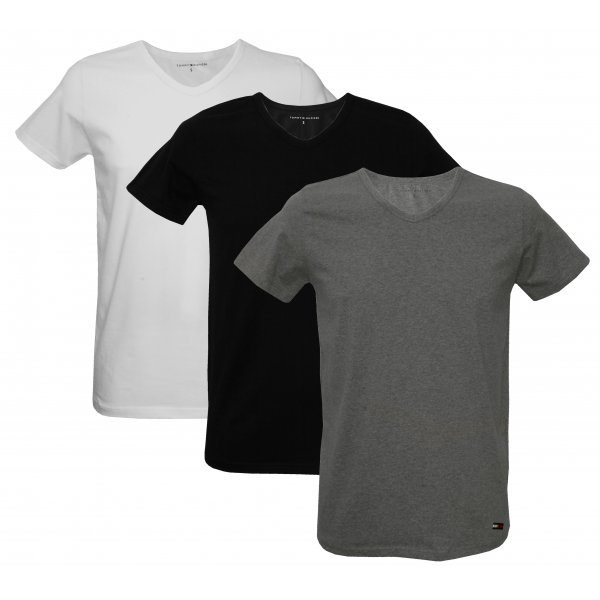 db8373e3 3-Pack Stretch Cotton V-neck t-shirts | Tommy Hilfiger Men's T-shirts