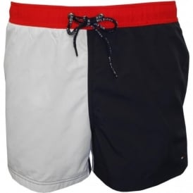 Adel CB Elia Swim Shorts, Navy & White