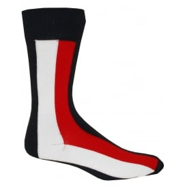 American Heritage Series Iconic Stripes Socks, Navy/White/Red