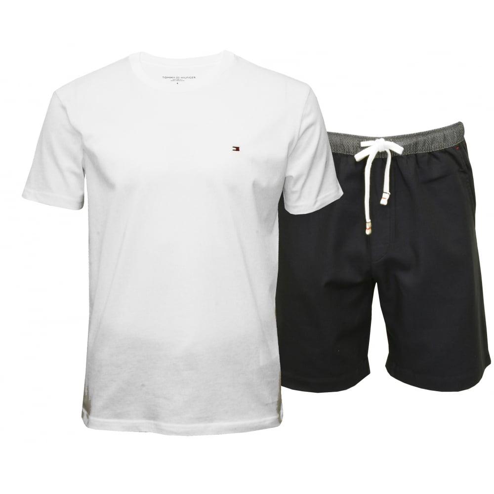 78385ff2f Tommy Hilfiger Authentic Woven Shorts & T-Shirt Pyjama Set, White ...