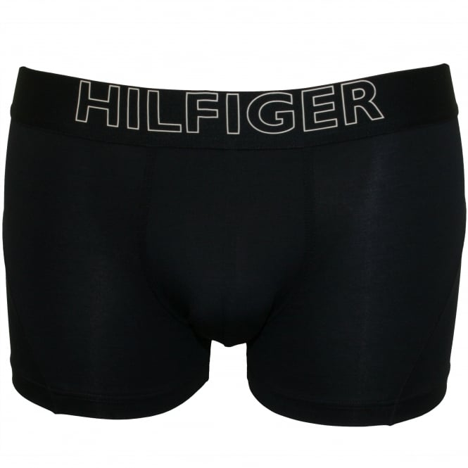 Tommy Hilfiger Bold Logo Athletic Boxer Trunk, Navy