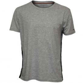 Brushed Cotton Jersey Crew-Neck T-Shirt, Heather Grey