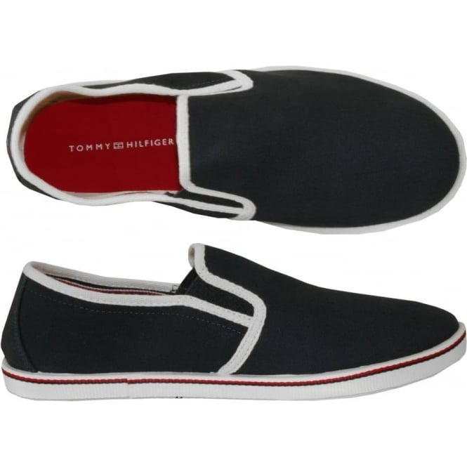 Tommy Hilfiger Canvas Plimsoll, Navy