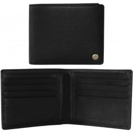 Capestripe Leather Credit Card Wallet, Black