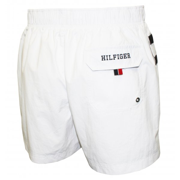 Tommy Hilfiger THD Flag Swim Shorts In White