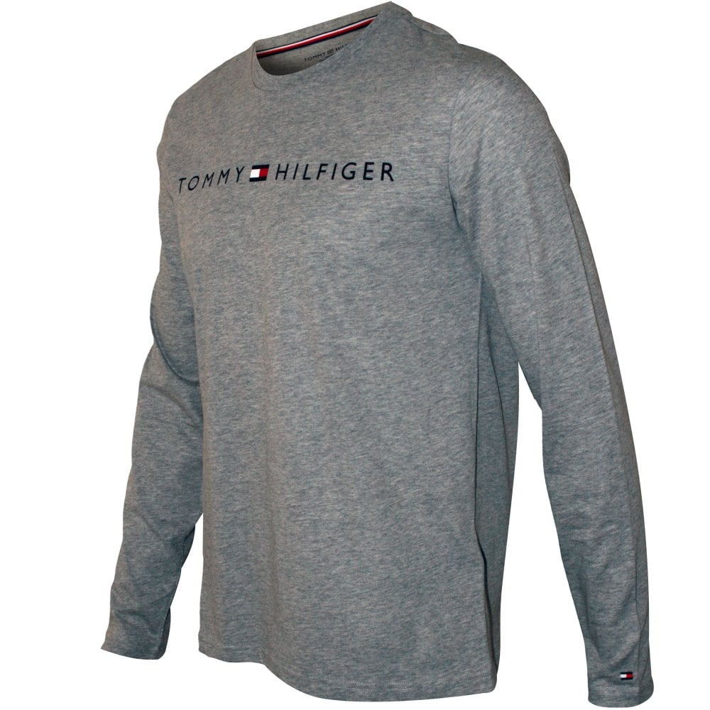 05d33dbd5 Tommy Hilfiger Classic Logo Long-Sleeve T-Shirt, Grey Heather |UnderU