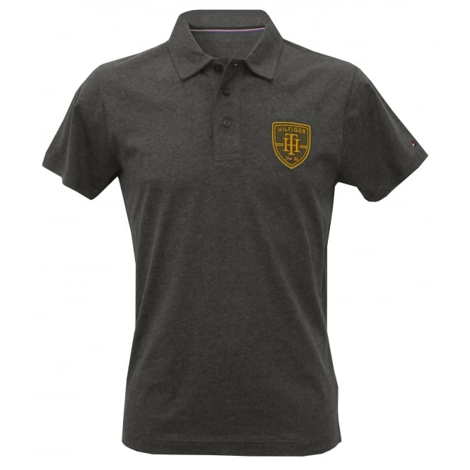 Tommy Hilfiger College Prep Brushed Cotton Jersey Polo Shirt, Dark Grey
