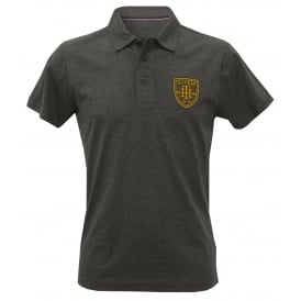 College Prep Brushed Cotton Jersey Polo Shirt, Dark Grey