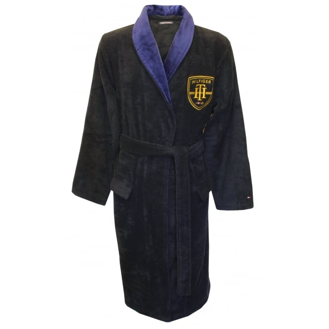 Tommy Hilfiger College Prep Towelling Bathrobe, Navy