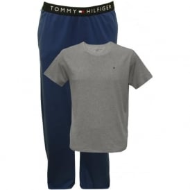 Conan Short-Sleeve T-Shirt & Jersey Pyjama Bottoms Gift-Set, Grey/Blue