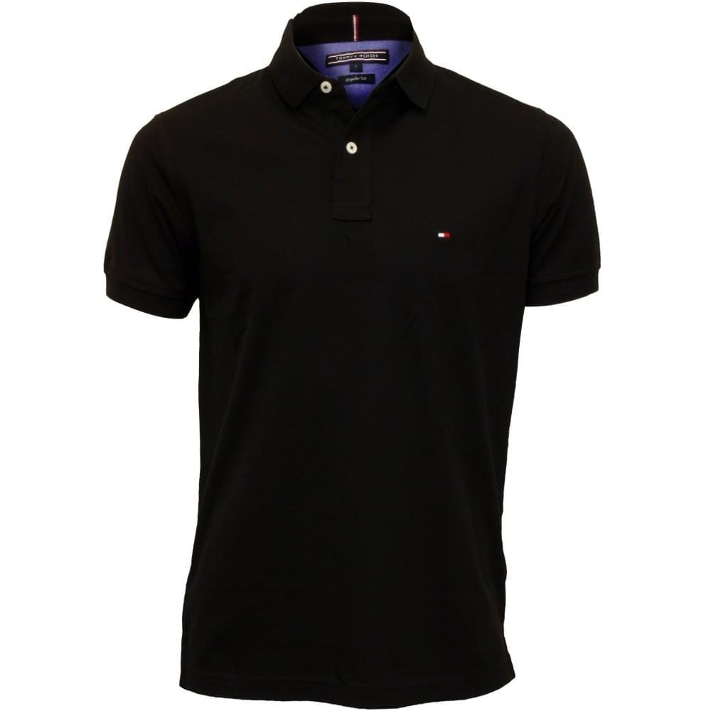 e7d94e3b66860 Tommy Hilfiger Core Knitted Pique Polo Shirt, New Black | UnderU
