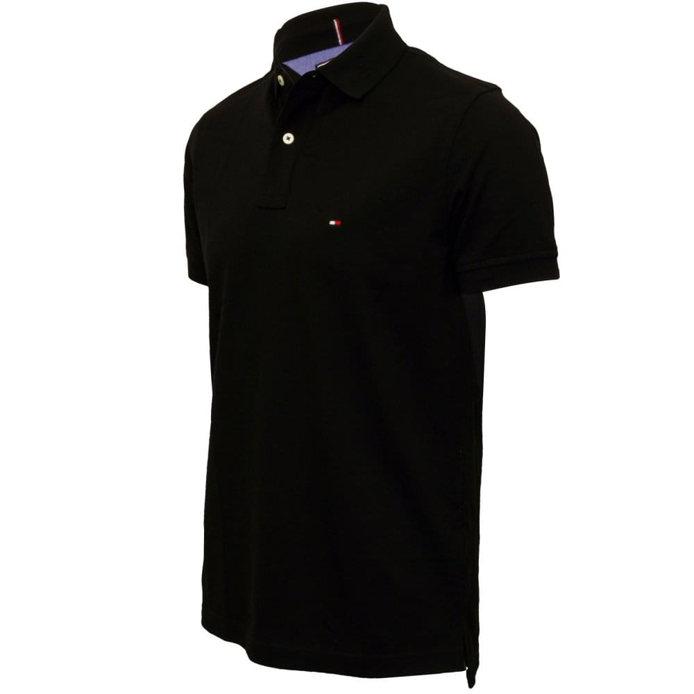 63d5054c Tommy Hilfiger Core Knitted Pique Polo Shirt, New Black | UnderU