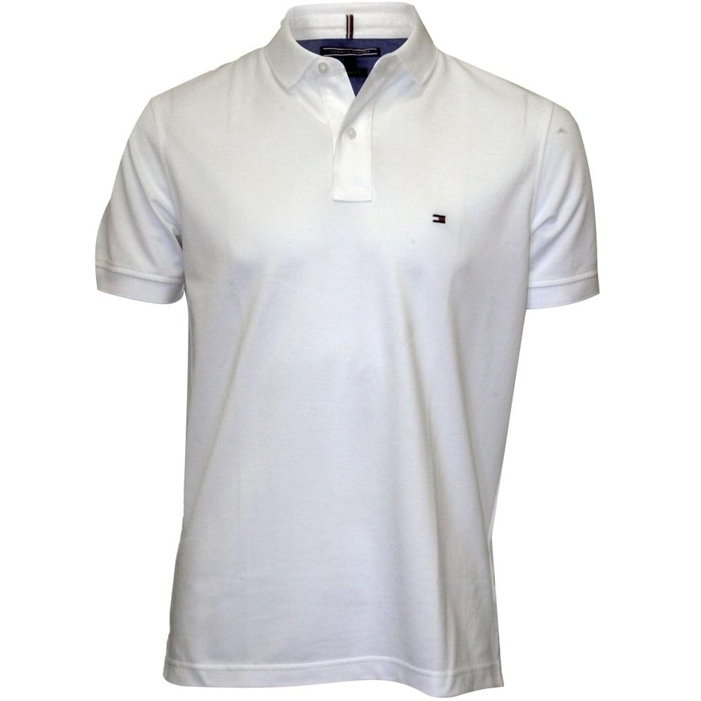 9dc9cde3 Tommy Hilfiger Core Knitted Pique Polo Shirt, Bright White | UnderU