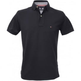 Core Knitted Pique Polo Shirt, Midnight Navy