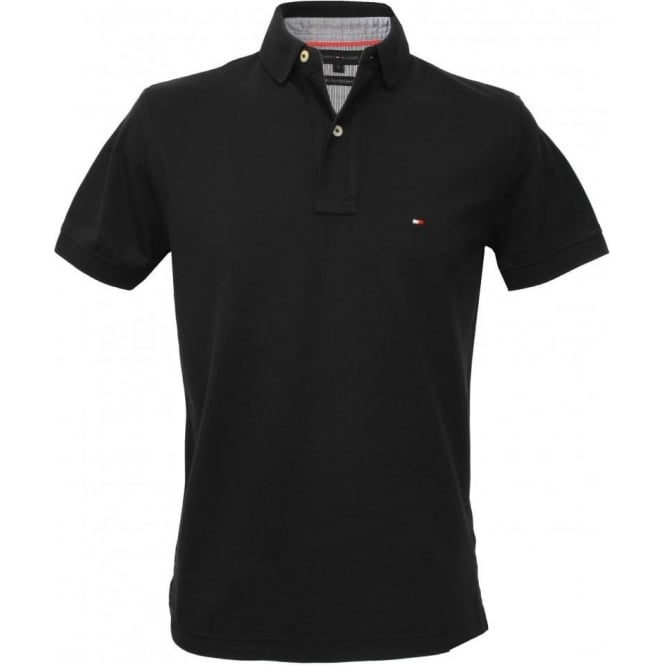 Tommy Hilfiger Core Knitted Pique Polo Shirt, New Black