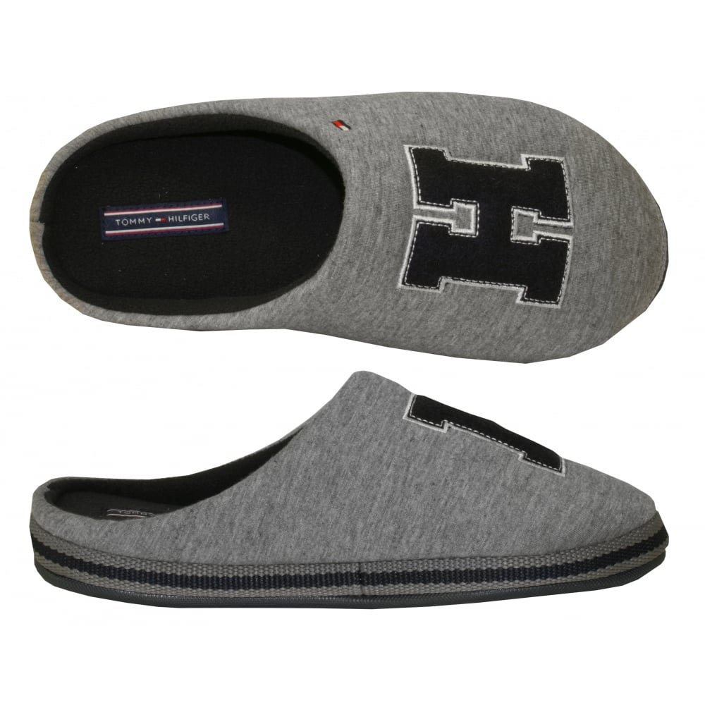 tommy hilfiger cornwall th 5d slippers grey navy underu. Black Bedroom Furniture Sets. Home Design Ideas