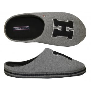 "Cornwall ""TH"" 5D Slippers, Grey/Navy"