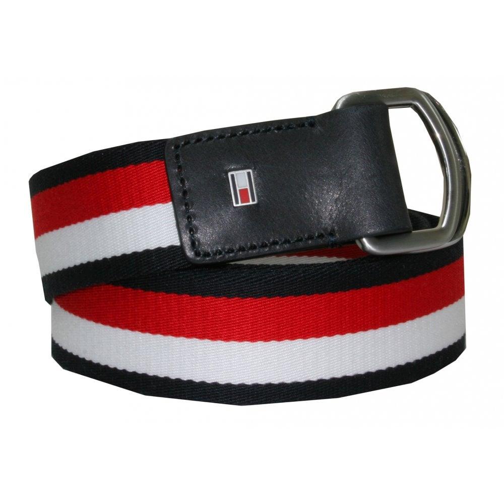 1cc9141902ea Tommy Hilfiger D Ring Flag Logo Webbing Belt