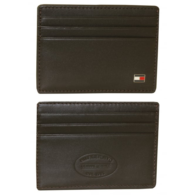 Tommy Hilfiger Eton Leather Card-Holder, Brown