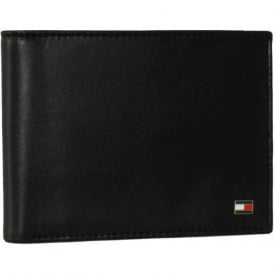 Eton Leather Credit Card & Coin-Pocket Wallet, Black