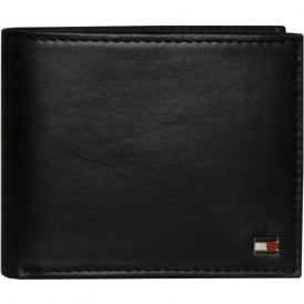 Eton Leather Mini Credit Card Wallet, Black