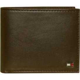 Eton Mini Credit Card Leather Wallet, Brown