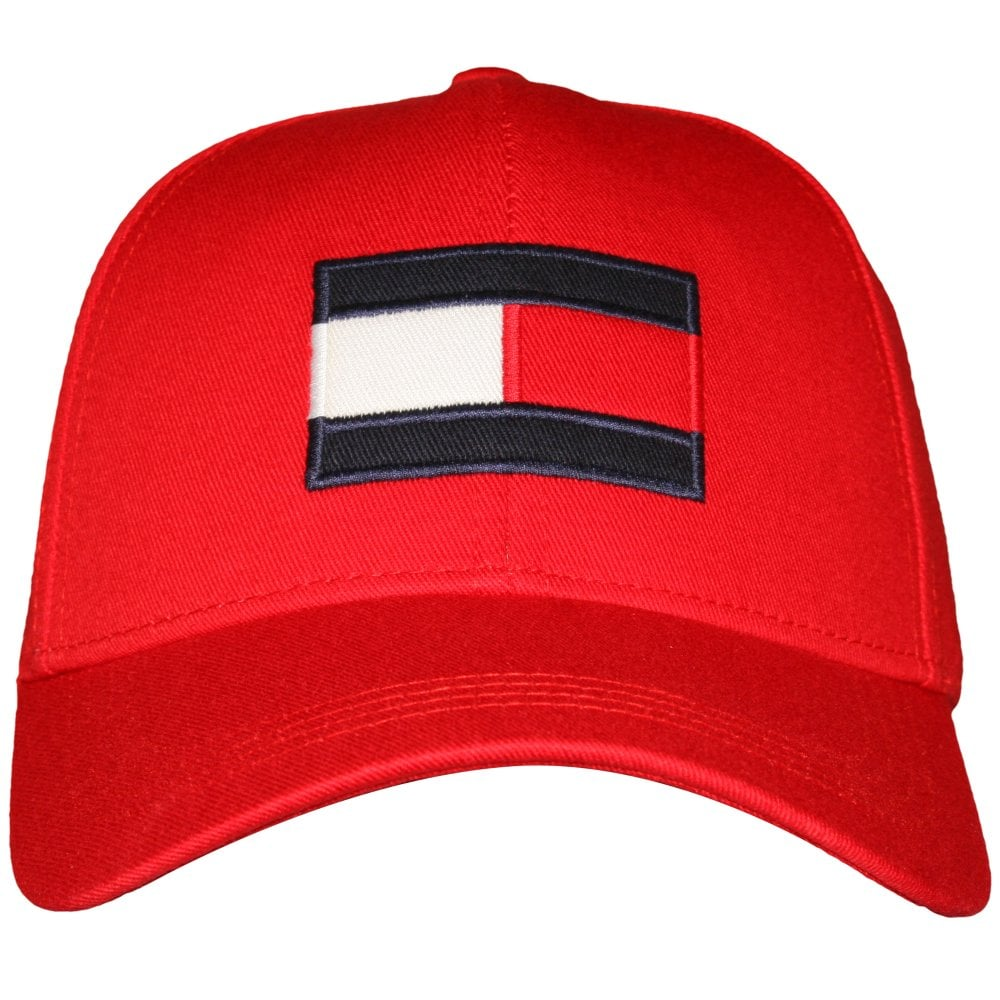e80f08bc Tommy Hilfiger Flag Baseball Cap, Red | Tommy Hilfiger caps | UnderU