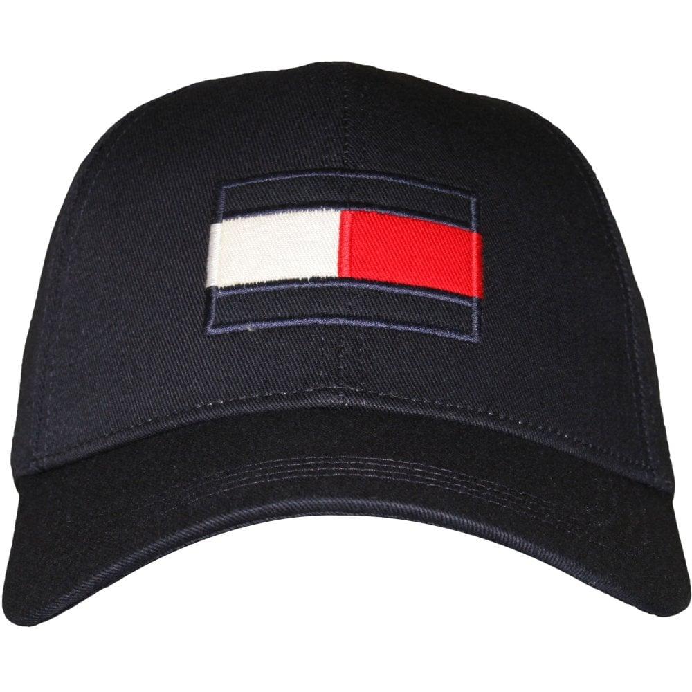 1660a105b Flag Logo Baseball Cap, Tommy Navy