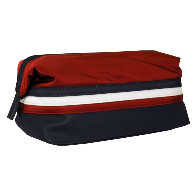 Tommy Hilfiger Framed Striped Logo Wash Bag, Navy