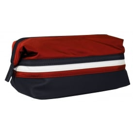 Framed Striped Logo Wash Bag, Navy