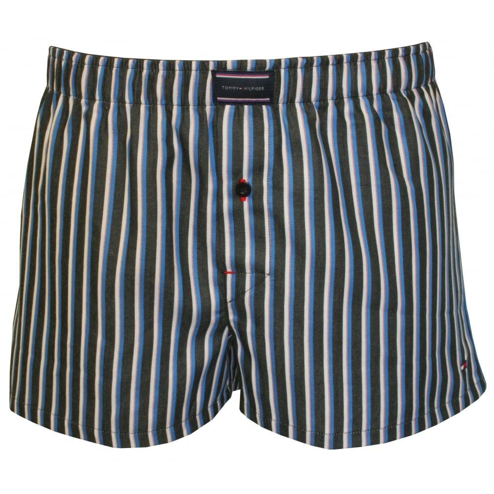 tommy hilfiger heritage stripe woven boxer shorts navy white. Black Bedroom Furniture Sets. Home Design Ideas