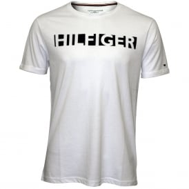 Hilfiger Crew-Neck Jersey Cotton T-Shirt, White