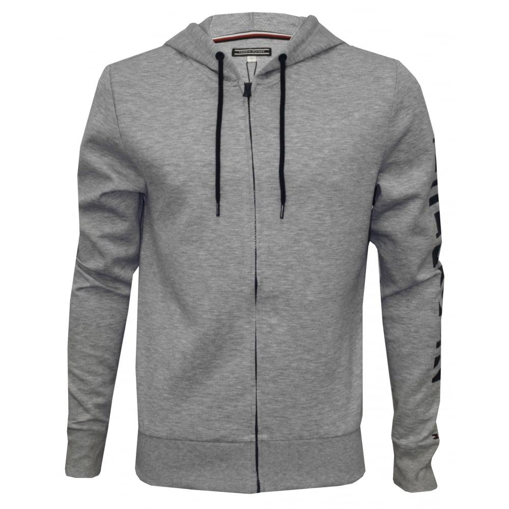 tommy hilfiger hilfiger logo tracksuit hoodie heather grey underu. Black Bedroom Furniture Sets. Home Design Ideas