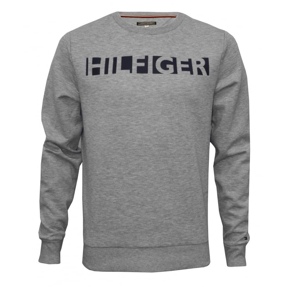 tommy hilfiger hilfiger logo tracksuit sweatshirt grey underu. Black Bedroom Furniture Sets. Home Design Ideas