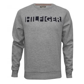 Hilfiger Logo Tracksuit Sweatshirt, Heather Grey
