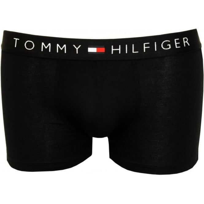 Tommy Hilfiger Icon Cotton Stretch Boxer Trunk, Black