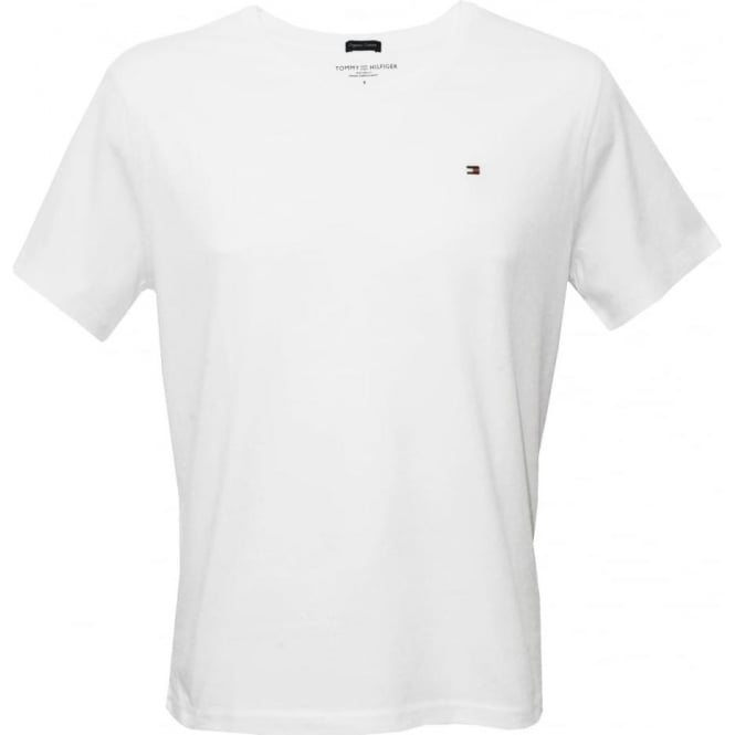 Tommy Hilfiger Icon Crew-neck Cotton T-Shirt, White