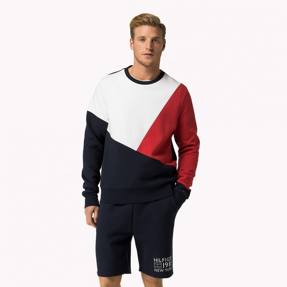 c8558bf68 Tommy Hilfiger Icon Flag Sweatshirt, Navy with red/white | UnderU