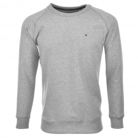 Icon Hawk Long-Sleeve Sweatshirt, Heather Grey