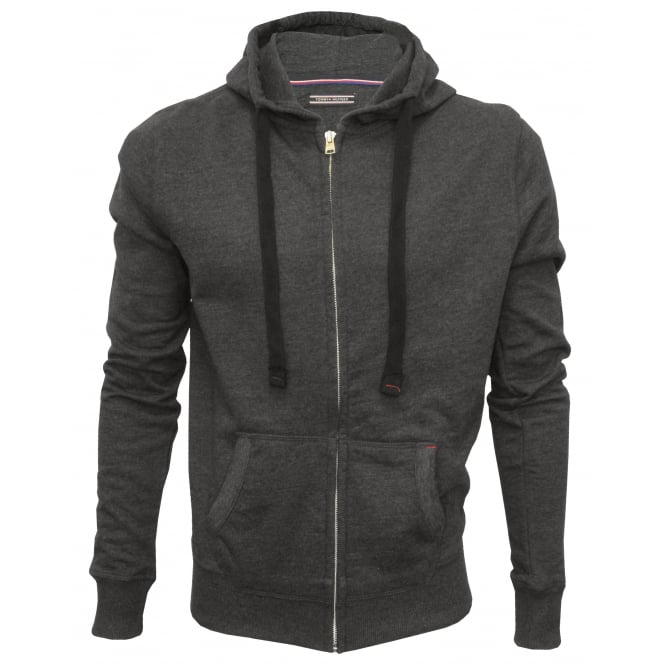 Tommy Hilfiger Icon Hawk Zip-Thru Hoodie, Charcoal Grey