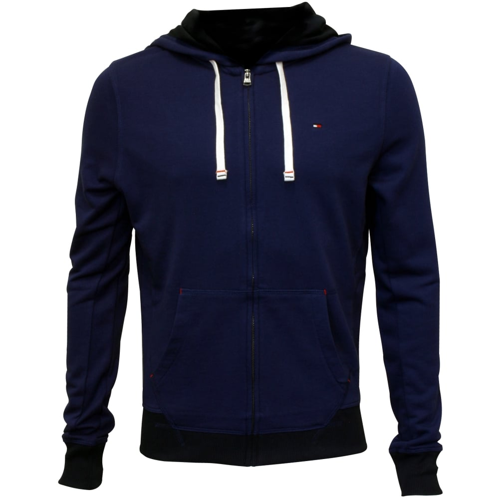 Hoodie trim Hawk Blue Icon with Tracksuit Thru Zip navy 1pwggBTHq