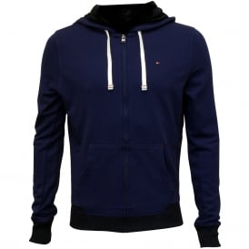 Icon Hawk Zip-Thru Tracksuit Hoodie, Blue with navy trim