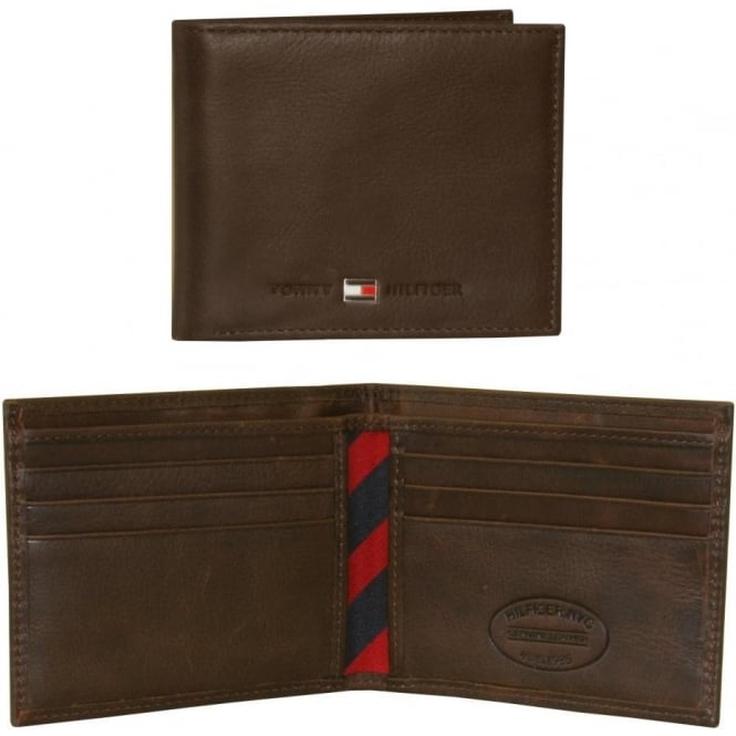 Tommy Hilfiger Johnson Mini Credit Card Leather Wallet, Brown