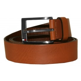 New Aly Leather Belt, Tan Brown