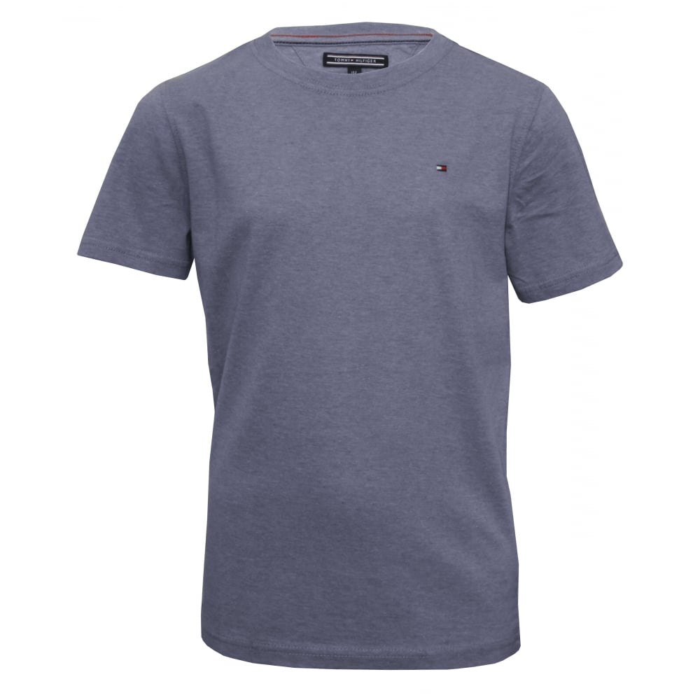 c8122cfab178 Original Boys Crew-Neck T-Shirt, Indigo Heather