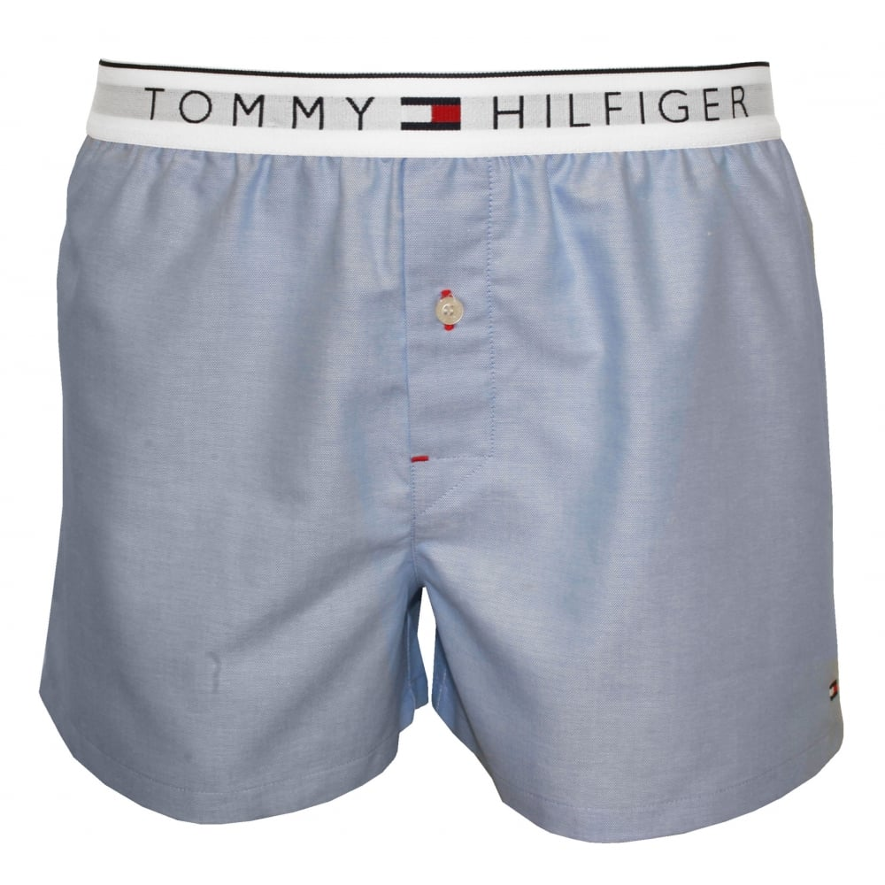 tommy hilfiger oxford woven boxer shorts light blue underu. Black Bedroom Furniture Sets. Home Design Ideas