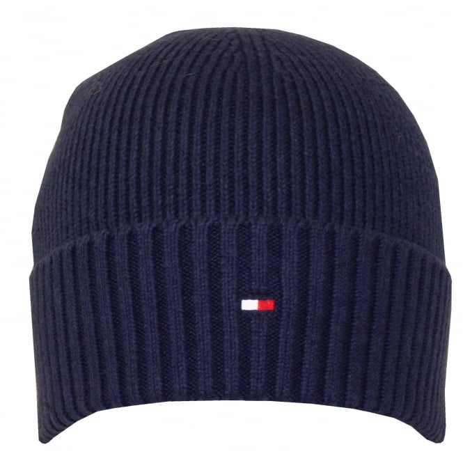75f39005 Tommy Hilfiger Pima Cotton Cashmere Beanie Hat, Navy | UnderU